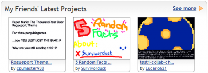 The My Friends' Latest Projects row.png